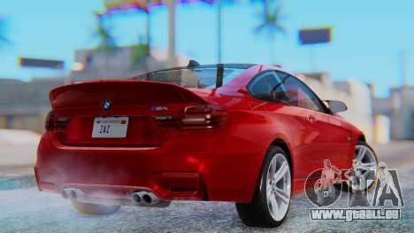 BMW M4 2015 HQLM für GTA San Andreas linke Ansicht