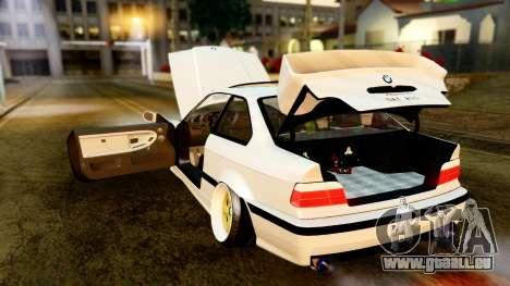 BMW M3 E36 Stance pour GTA San Andreas vue intérieure