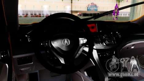 Acura TSX Hellaflush 2010 pour GTA San Andreas vue de droite