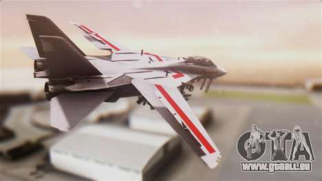 F-14D Tomcat Macross Red für GTA San Andreas linke Ansicht