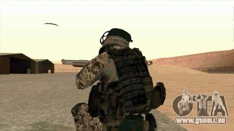 BF3 Montes pour GTA San Andreas quatrième écran