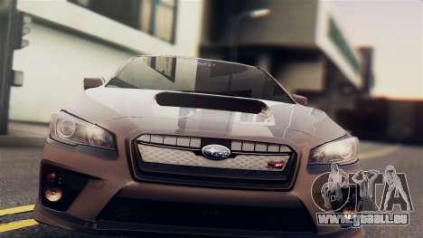 Subaru Impreza WRX STI 2015 pour GTA San Andreas sur la vue arrière gauche
