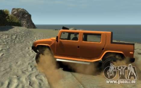 Mammoth Patriot Pickup pour GTA 4 est une gauche