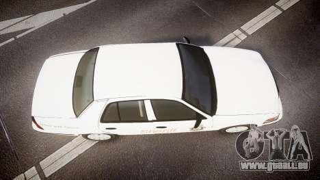 Ford Crown Victoria Sacramento Sheriff [ELS] pour GTA 4 est un droit