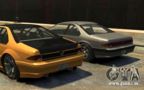 Vapid Fortune Drift pour GTA 4 Vue arrière