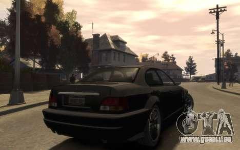 La suprématie de la Sentinelle (XS) 4-portes pour GTA 4 est un droit