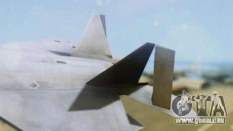 F-15DJ (E) JASDF Aggressor 32-8081 für GTA San Andreas zurück linke Ansicht