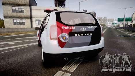 Lada Duster 2015 PMESP [ELS] pour GTA 4 Vue arrière de la gauche