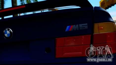 BMW M5 E34 Gradient pour GTA San Andreas vue arrière