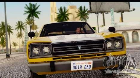 GTA 5 Vulcar Warrener SA Style pour GTA San Andreas sur la vue arrière gauche