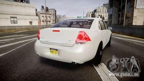 Chevrolet Impala Unmarked Police [ELS] tw für GTA 4 hinten links Ansicht