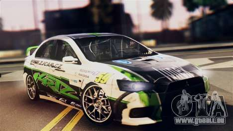 Mitsubishi Lancer Evo X 2011 Rally Bohemia pour GTA San Andreas