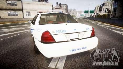 Ford Crown Victoria CNPS [ELS] pour GTA 4 Vue arrière de la gauche