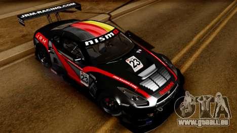Nissan GT-R (R35) GT3 2012 PJ3 pour GTA San Andreas vue de côté