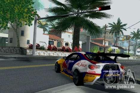 Toyota GT86 Red Bull pour GTA San Andreas sur la vue arrière gauche
