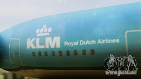 Airbus A330-200 KLM New Livery für GTA San Andreas Rückansicht