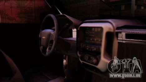 Chevrolet Silverado Enlodada für GTA San Andreas Rückansicht