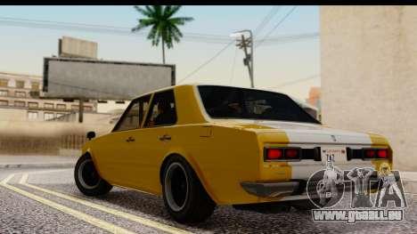 GTA 5 Vulcar Warrener SA Style pour GTA San Andreas laissé vue