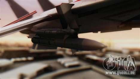 F-14D Tomcat Macross Red pour GTA San Andreas vue de droite
