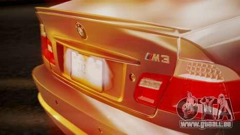 BMW M3 E46 v2 pour GTA San Andreas vue de côté