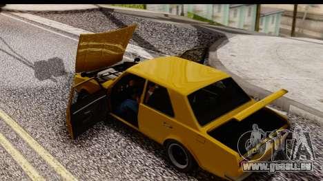 GTA 5 Vulcar Warrener SA Style pour GTA San Andreas vue de droite