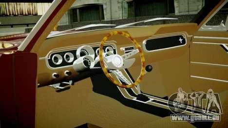 Ford Mustang 1965 pour GTA 4 Vue arrière