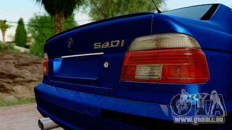 BMW 540i E39 pour GTA San Andreas vue arrière