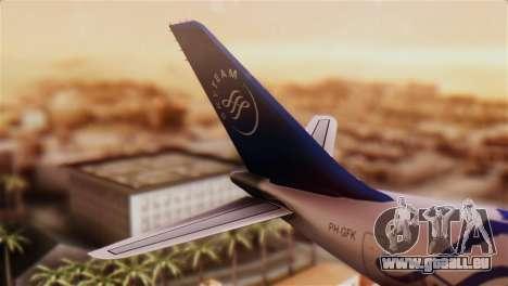 Airbus A330-200 Garuda Indonesia Sky Team für GTA San Andreas zurück linke Ansicht