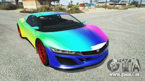 Dinka Jester (Racecar) Rainbow pour GTA 5