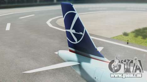 LOT Polish Airlines Boeing 747-400 pour GTA San Andreas sur la vue arrière gauche
