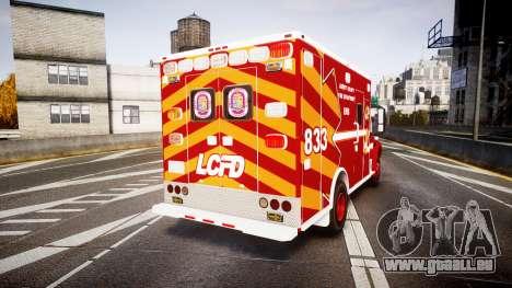 Freightliner M2 2014 Ambulance [ELS] pour GTA 4 Vue arrière de la gauche