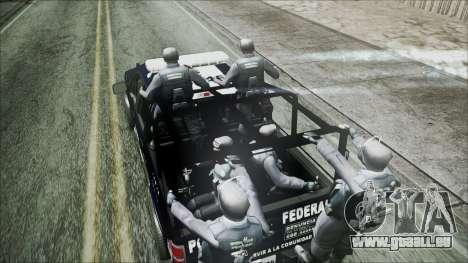 Ford Pickup Policia Federal für GTA San Andreas zurück linke Ansicht