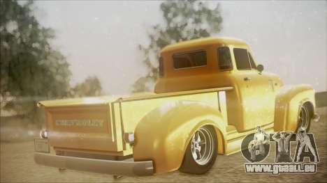 Chevrolet 3100 Truck 1951 pour GTA San Andreas laissé vue