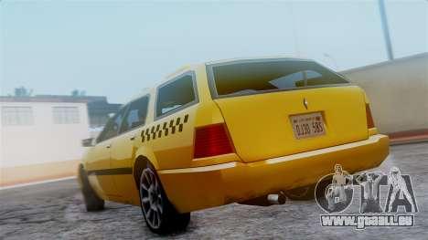 Stratum Taxi pour GTA San Andreas vue arrière