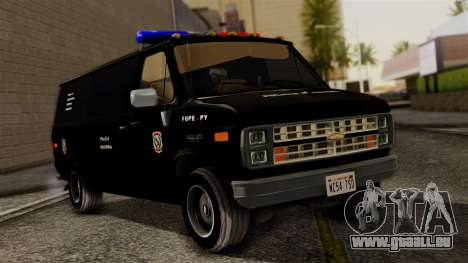 Chevrolet Chevy Van G20 Paraguay Police pour GTA San Andreas