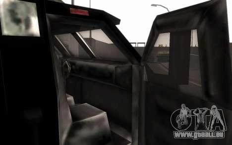 Machine de livraison des pièces tuning pour GTA San Andreas sur la vue arrière gauche