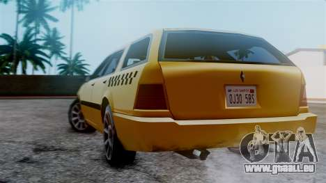 Stratum Taxi pour GTA San Andreas laissé vue