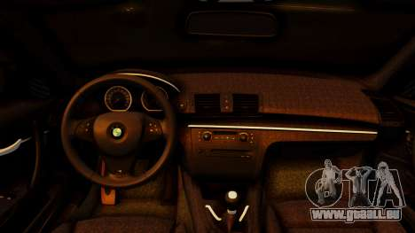 BMW 1M E82 v2 pour GTA San Andreas vue de droite