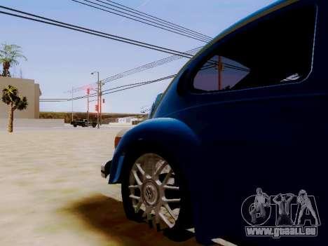 Volkswagen Beetle 1980 Stanced v1 pour GTA San Andreas vue intérieure