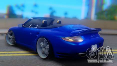 Porsche 911 2010 Cabrio pour GTA San Andreas laissé vue