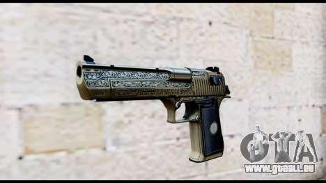 Golden Engraved Desert Eagle für GTA San Andreas