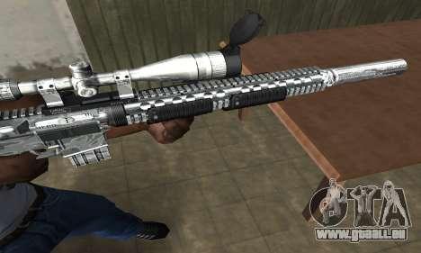 Full Silver Sniper Rifle für GTA San Andreas zweiten Screenshot
