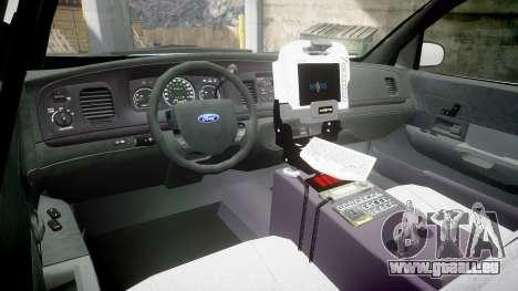 Ford Crown Victoria Bohan Police [ELS] pour GTA 4 Vue arrière