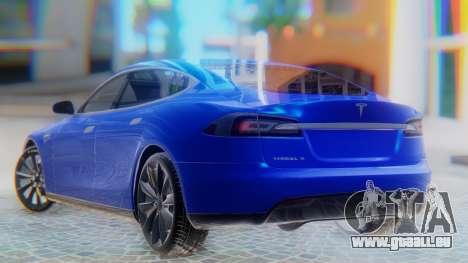 Tesla Model S pour GTA San Andreas laissé vue