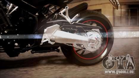 Honda CB650F Pretona für GTA San Andreas rechten Ansicht