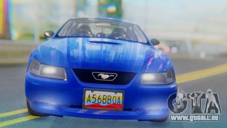 Ford Mustang 1999 Clean pour GTA San Andreas vue intérieure