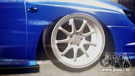 Subaru Impreza WRX STI B. O. Construction für GTA San Andreas zurück linke Ansicht