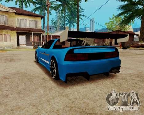 Infernus Lamborghini pour GTA San Andreas sur la vue arrière gauche