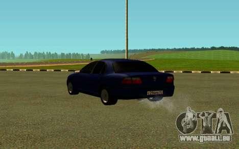 Opel Omega B pour GTA San Andreas sur la vue arrière gauche