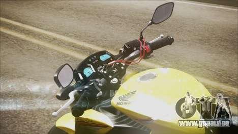 Honda CB650F Amarela pour GTA San Andreas sur la vue arrière gauche